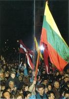 Manifestaciones en Lituania reclamando la independencia.