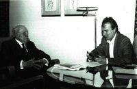 Uslar Pietri con Juan Carlos Vidal.