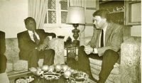 Felipe González se entrevista con el presidente angoleño, José Eduardo dos Santos.