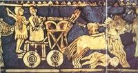 Carro de guerra. Estandarte de Ur (primera mitad del III milenio a. C.).