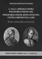 """Portada del libro """"Lorenzo Valla: apólogo contra Poggio Bracciolini: Quinta invectiva contra Lorenzo Valla""""."""