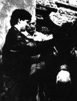 Robert Bresson y François Lafarge durante el rodaje de Av hasard Balthazar (1966)