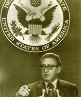 Henry Kissinger cuando era secretario de Estado norteamericano.