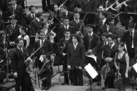 Gustavo Dudamel con la Orquesta de la Juventud Venezolana Simón Bolívar.