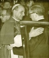 Con S.S. el Papa Pablo VI. Roma, 21-XI-1965.