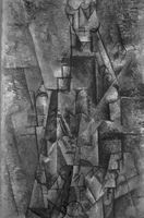 Pablo Picasso, Hombre con clarinete, 1911-12.<br /><br /> Colección Thyssen-Bornemisza.