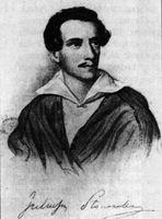 Juliusz Sluwacki. Grabado de James Hopwood, según un dibujo de Józef Kurowsiki.