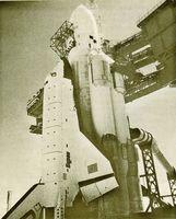 Lanzadera espacial soviética.