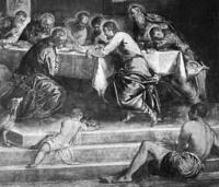 Sagrada Cena (detalle). Santo Stefano. Venezia.