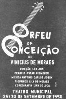 "Cartel de ""Orfeu da conceiçao"", de Vinicius de Moraes y Tom Jobin, 1956."