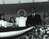 Foto familiar del presidente de Honduras.