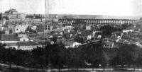 Segovia en 1870, con San Millán y San Clemente en primer término.