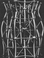 Tubo Aulomórfico T-1 2, después de colapsar. Maqueta. 1961-62. Architectural Archives of the University of Pennsylvania.
