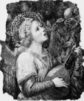 Ángel Músico. Falsificación de Melozzo da Forlí. Fragmento mural. Museo Nacional del Prado. Madrid