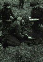 La brigada franco-alemana durante unas operaciones de entrenamiento.