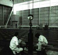 Interior de la central nuclear de Vandellós.