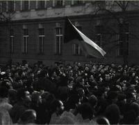Manifestación de estudiantes en Praga.