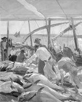 """Joaquín Sorolla. """"Ayamonte. La pesca del Atún"""", 1919."""