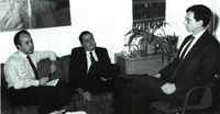 De izquierda a derecha: Miguel Angel Cortés, Sucre Alcalá y Robert Einhorn.
