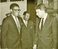 Felipe González y Teodoro Obiang.
