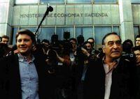 Nicolás Redondo (UGT) y Antonio Gutiérrez (CCOO) indiscutibles líderes sindicales.