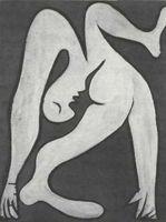 Pablo Picasso, Mujer acróbata (1930), óleo  sobre tabla, París, Centre George Pompidou.