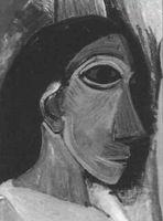 Poblo Picasso, Las señoritas d'Avignon (detalle), 1907, Museum of Modern Art, Nueva York.