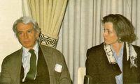 Miguel Oriol e Ybarra durante la entrevista.