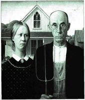 American Gothic (1930), Grant Wood.