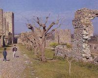 """Montemor (Portugal). Paseo tradicional """"ideal"""" para la comunicación ciudad-entorno. (Foto de J. A. Abella)."""