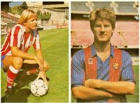 Schuster (At. Madrid) y Laudrup (F.C. Barcelona).