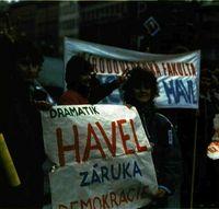 Manifestación en Praga.