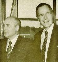 Gorbachov y Bush.