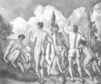 """Bañistas"". 1890-1892. Museo d'Orsay, Paris."