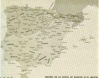 España en la época de Sancho III el Mayor.