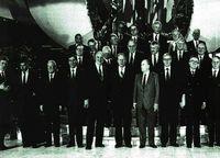 Los representantes de los países europeos al término de la conferencia de Maastricht.