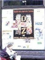 Carteles electorales por las calles, un espectáculo inédito para los ciudadanos croatas.