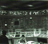 Sala central de energía eléctrica de la central nuclear de Ascó (Tarragona).