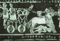 Carro de guerra. Estandarte de Ur (primera mitad del s. III a.C.)