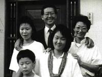 Fujimori con su familia.