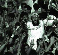 Manifestación pro-Sadam Husein en Jordania.