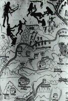 Fragmento del Mapa de Nueva Galicia. Siglo XVI.