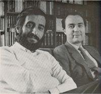 Julio Martínez Mesanza y Luis Alberto de Cuenca. (Foto de José del Río Mons).