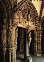 Pórtico de la Gloria en la catedral de Santiago.