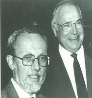 De Maiziére y Helmut Kohl, canciller de la RFA.