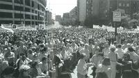 Manifestación contra la LOGSE.