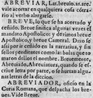 Sebastián de Covarrubias y Horozco, Tesoro de la lengua castellana o española. Madrid, Luis Sánchez 1611-fol.6
