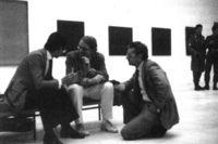 De izquierda a derecha, Ignacio Vicens, Peter Eisenman y Javier Carvajal.