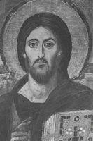 Icono de Cristo, realizado posiblemente en Constantinopla, siglo VI d.C. Monasterio de Santa Catalina, Sinaí.