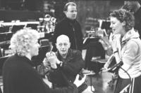 Rattle, Moldoom y sus colaboradores en un momento del ensayo general.